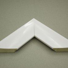 قاب پی وی سی کد ۸۰۷ شیب دار سفید