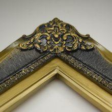 قاب چوبی سلطنتی کد بچه استیل خش دار پشت استیل شسته طلایی